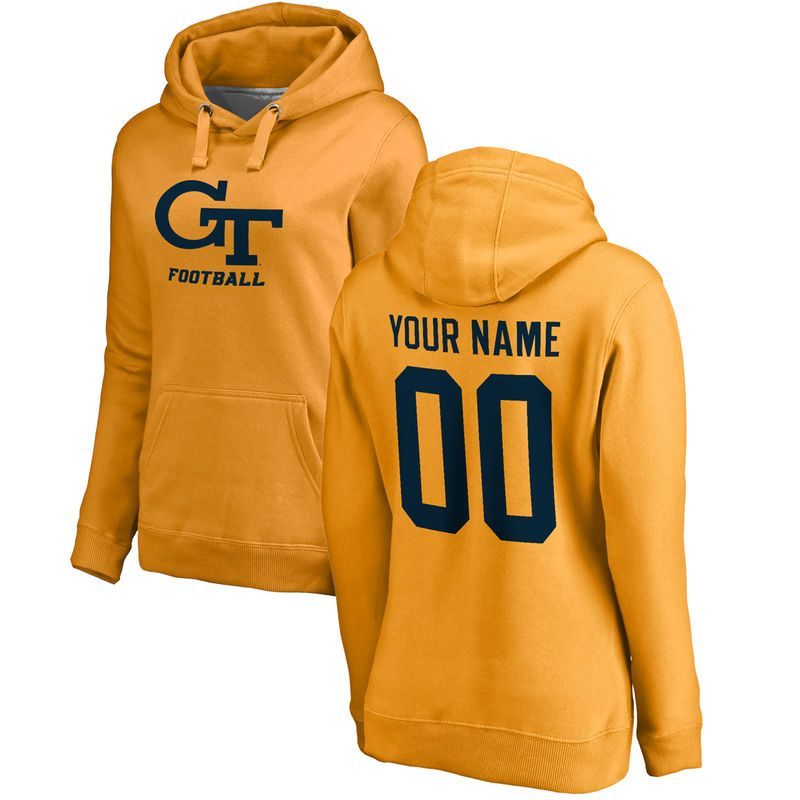 Georgia Tech Yellow Jackets Fanatics Branded Women s Personalized One Color  Pullover Hoodie - Gold c46f10390