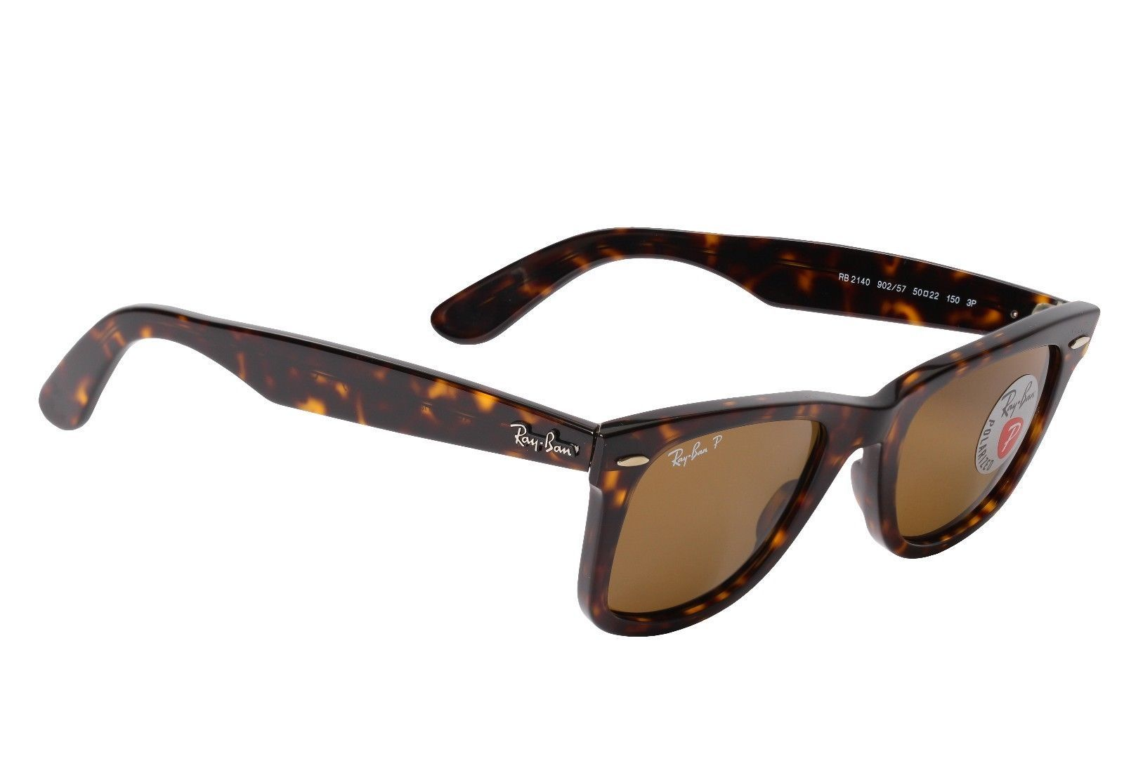 bf99a0649aed ... best new ray ban tortoise wayfarer polarized sunglasses rb2140 902 57  50mm b83b8 d19ea