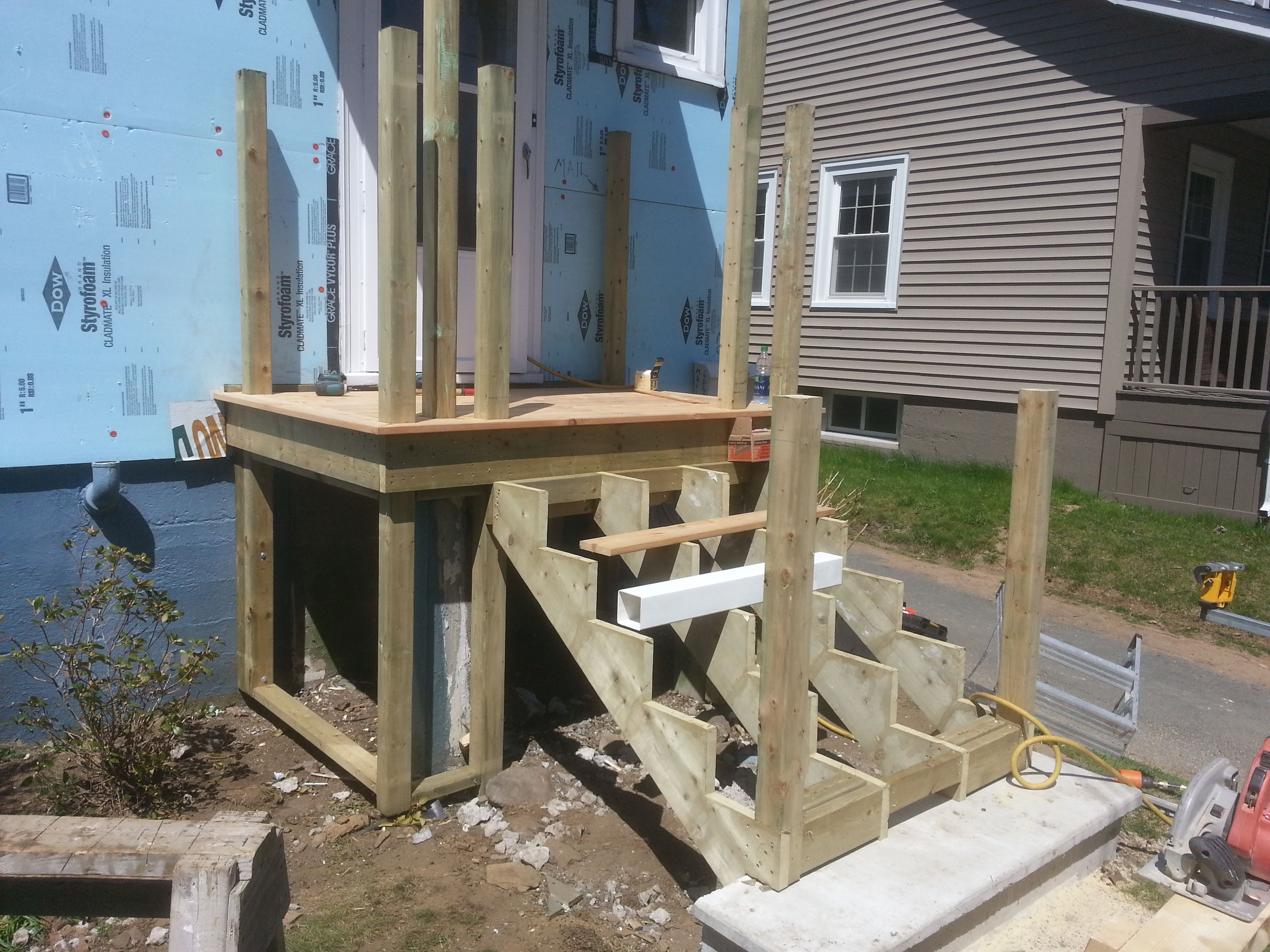 Best Attaching Bottom Deck Posts Thisiscarpentry Building A 640 x 480