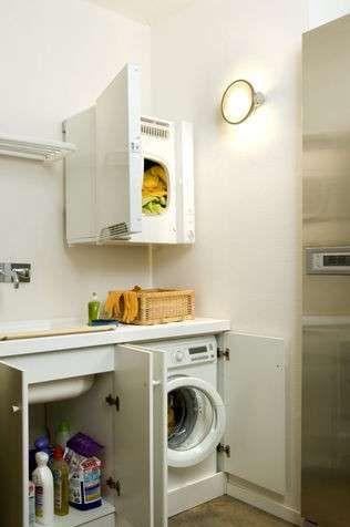 Bagno piccolo con lavatrice - Bagno con lavatrice e asciugatrice ...