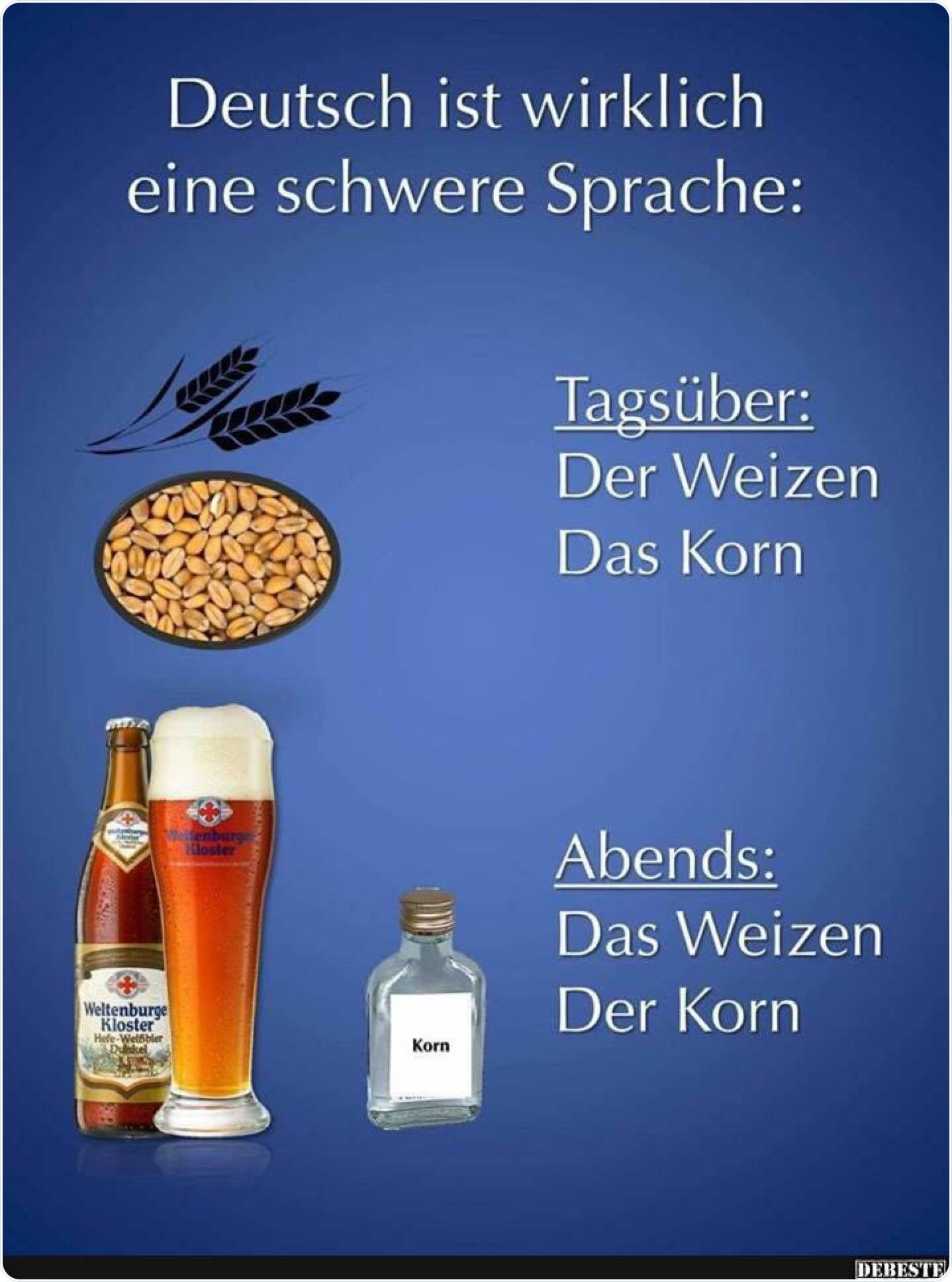 Deutsch ist wirklich eine schwere Sprache | Witzige bilder