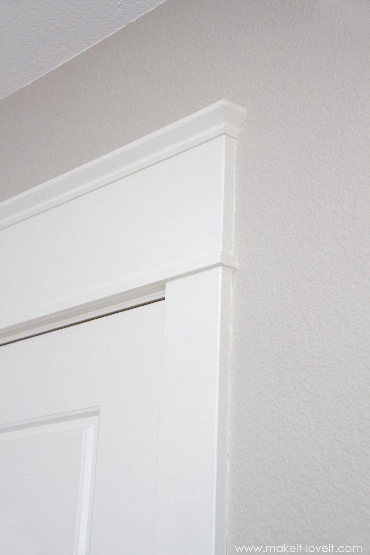 Installing A Pre Hung Door The Easy Way And Trimming Out A Door Aka Adding Molding Door Frame Molding Trendy Door Door Frame