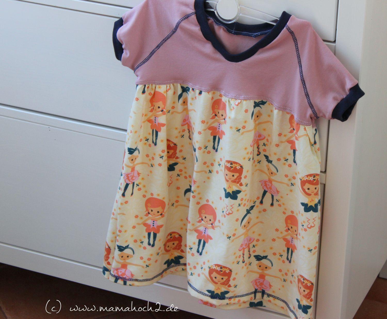 einfaches Kinderkleid mit Schnittmuster   Nähkästchen   Pinterest ...