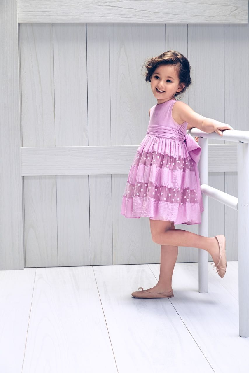 Young girls wedding dresses  Nellystella Luca Dress in Orchid Bouquet  Maria  Pinterest