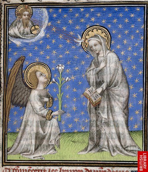 Annunciation - French Book of Hours, 1st quarter 15th c.