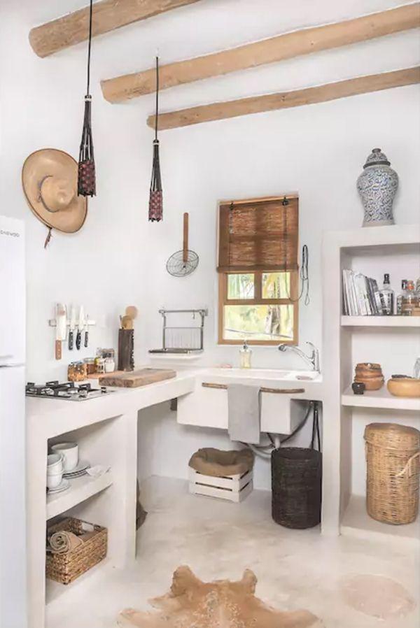 Moderne Landhausküche mit Tierfell Küche individuelle einrichten - Küche Einrichten Ideen