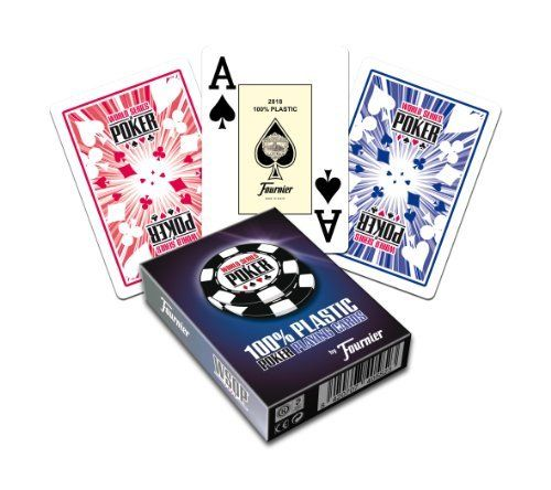 Fournier WSOP Poker Size Jumbo Index Playing Cards (Blue) by N.H. Fournier S.A.. $12.95. These are new World Series of Poker playing cards by Fournier. Fournier is the leading manufacturer of casino cards in the world. Made with proprietary materials, each card undergoes a 12 step quality control program. This deck is made of 100% plastic and includes 52 cards plus a joker, a hand ranking card that can be used as another joker, and a WSOP advertising card.