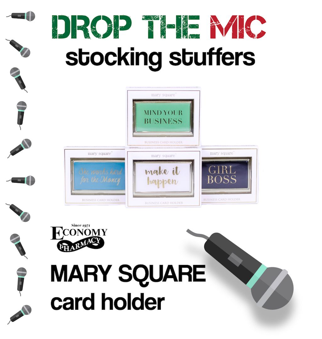 DROP THE MIC STOCKING STUFFERS!! have your business card be in style ...