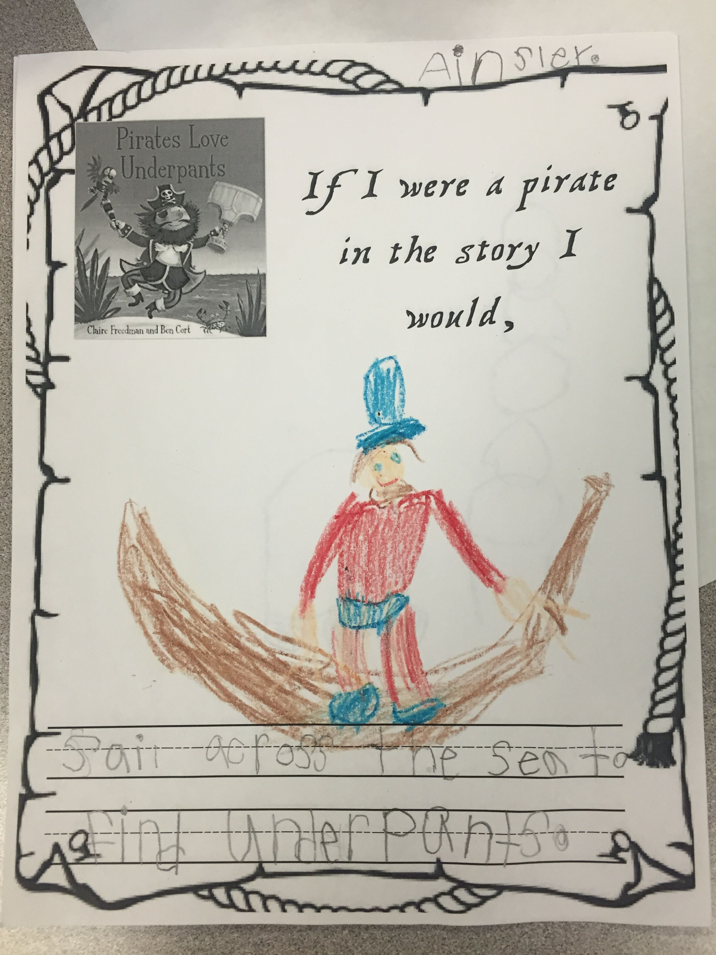 Pirates Love Underpants Writing Amp Illustration