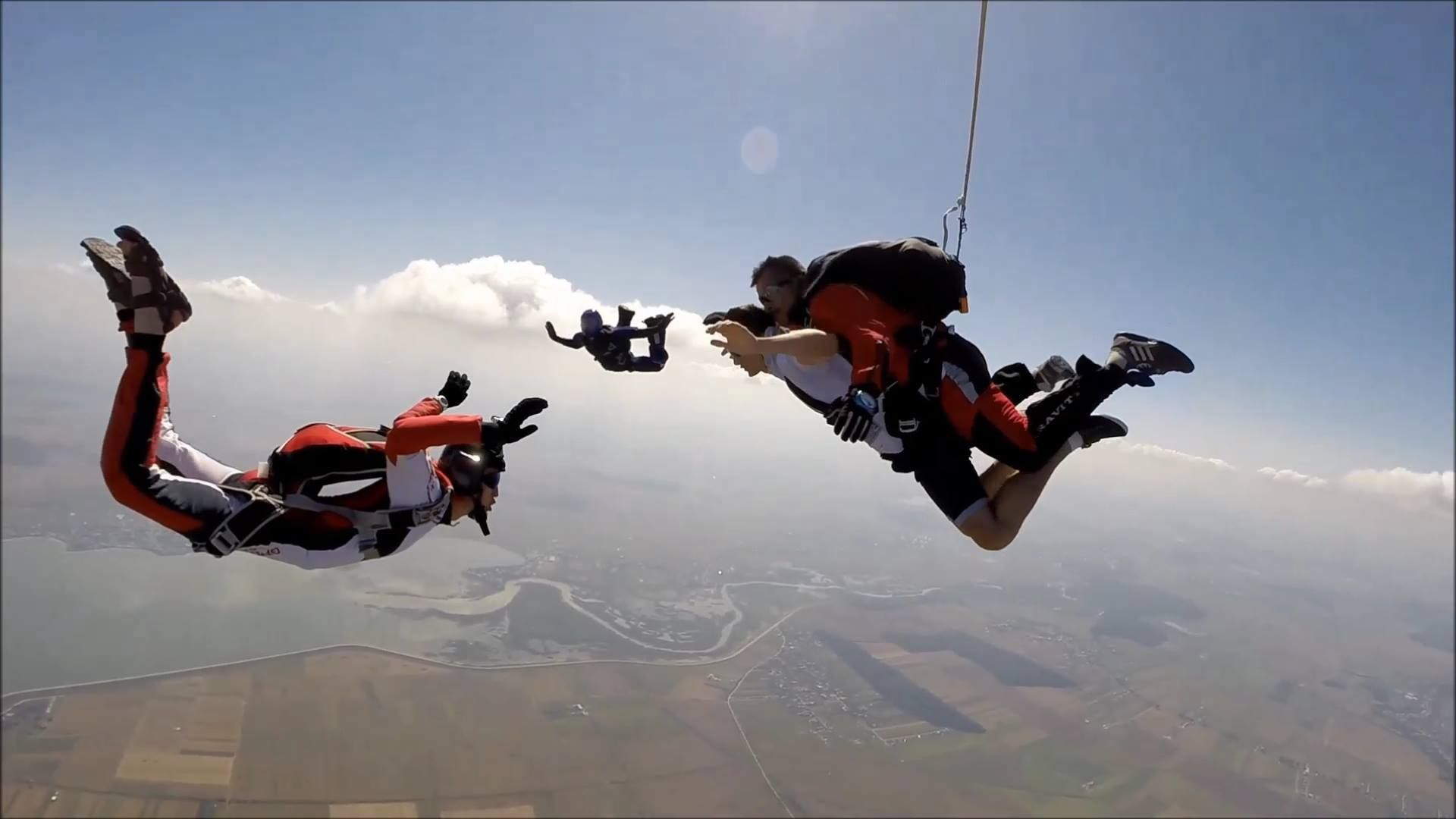 Tandem skydiving or tandem parachuting refers to a type of
