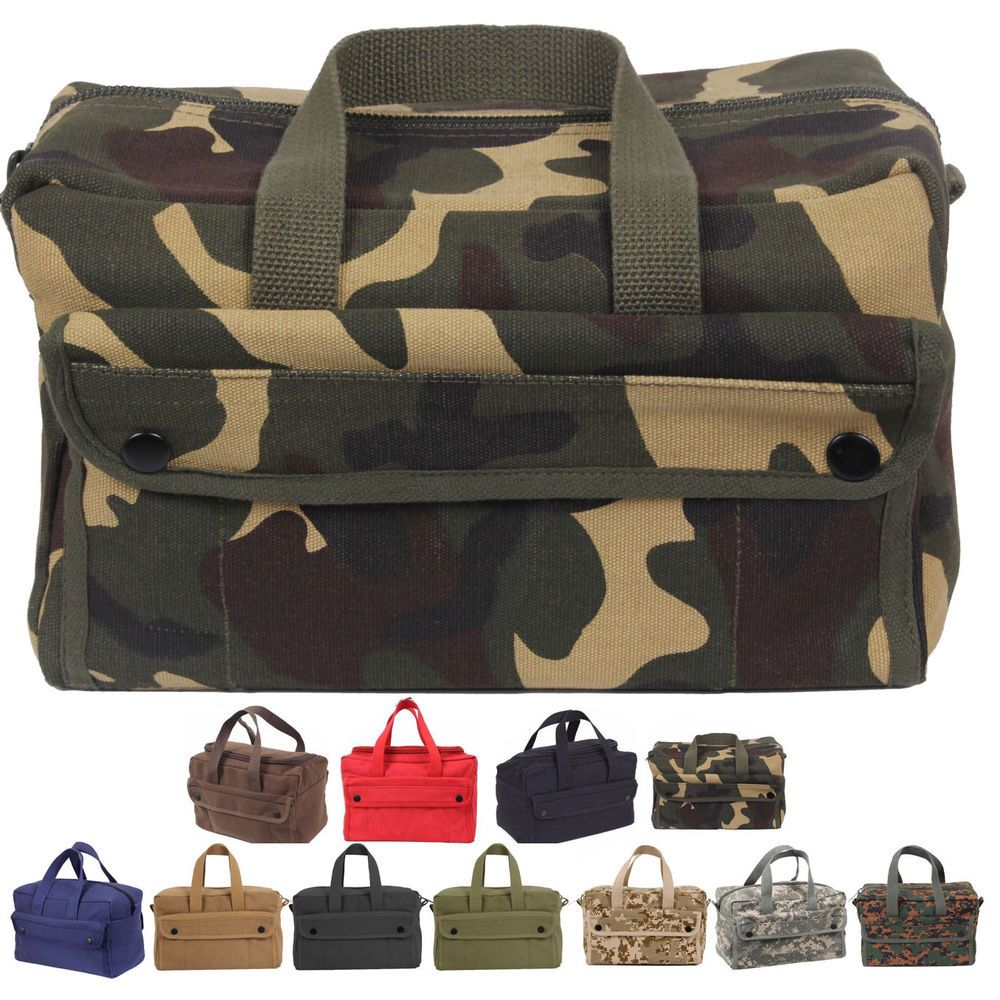 Canvas Tool Bag Heavy Duty Carry Tote Storage Work Utility Mechanics  Military  Rothco  Military 66f326398f1