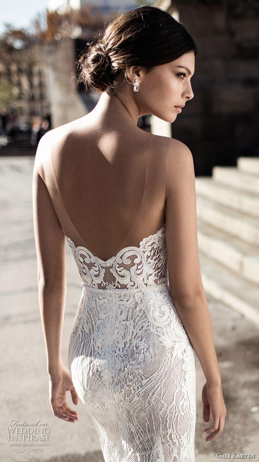 37bd8dd8c59 Gali Karten 2017 bridal long sleeves strapless sweetheart neckline full  embellishment elegant sexy sheath wedding dress short train (8) zbv