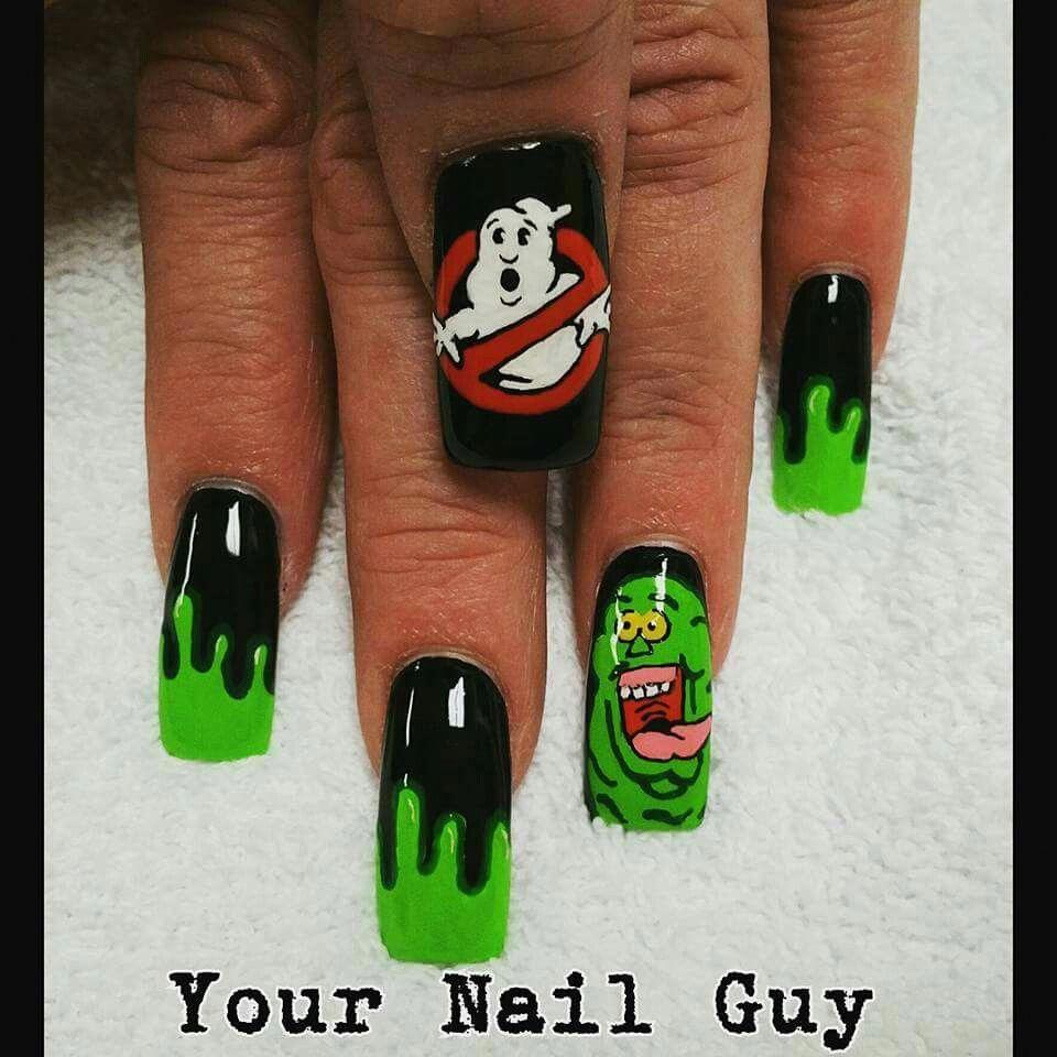 Ghostbuster nail art. #geeknailart in 2020 | Halloween ...