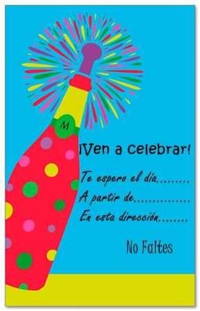 Invitaciones De Fiestas De Adultos Para Imprimir Gratis Fiesta101 - Tarjetas-de-invitacion-cumpleaos