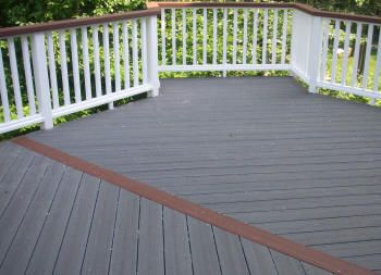 2 tone deck staining ideas ct connecticut composite for Staining trex decking