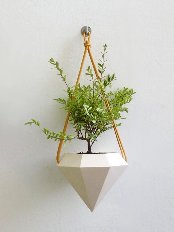 RawDezign-Plante-Suspension-Pot-Diamant-2 | Sur un fil | Pinterest ...