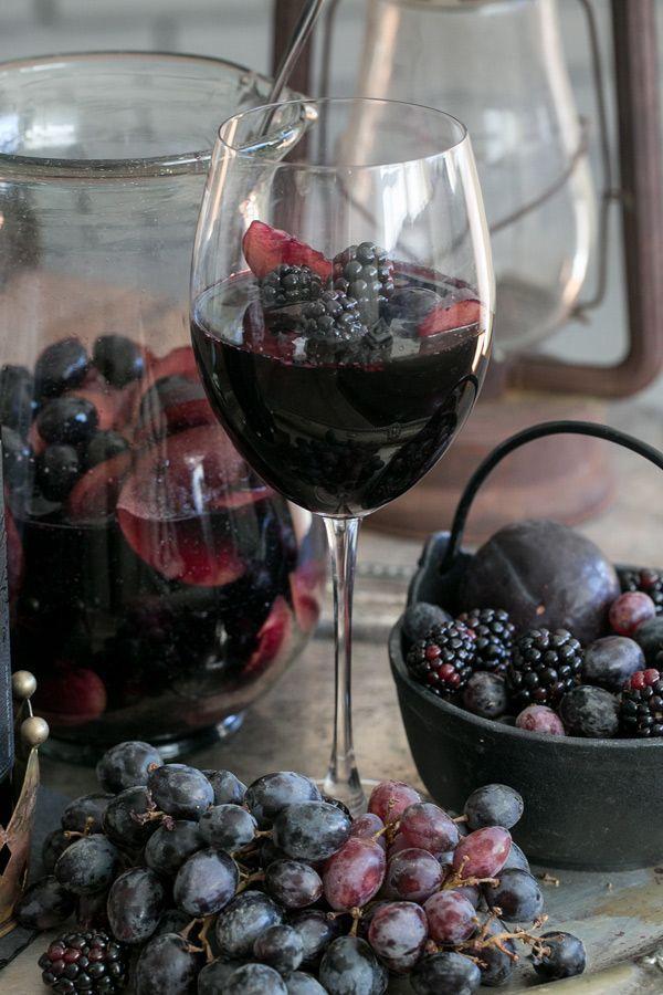 Black Sangria 1bottle Apothic Dark 2cup Blackberry 4black Plum 1/4cup brandy 2cup black grape 1cup sparklingwater