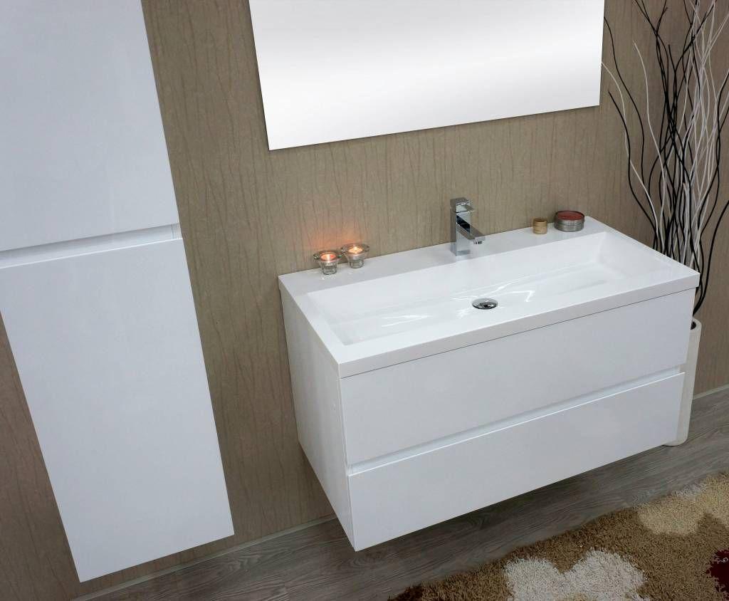 Wit hoogglans badkamermeubel pejjerhaof