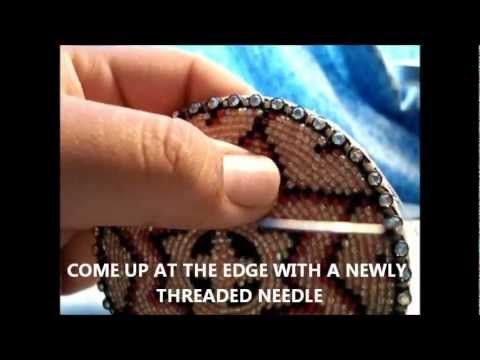 How To: Native American Beadwork, Rosette - YouTube. A rosette with a fastener on the back would make a great slider (woggle). Boy Scout Indian Lore merit badge.