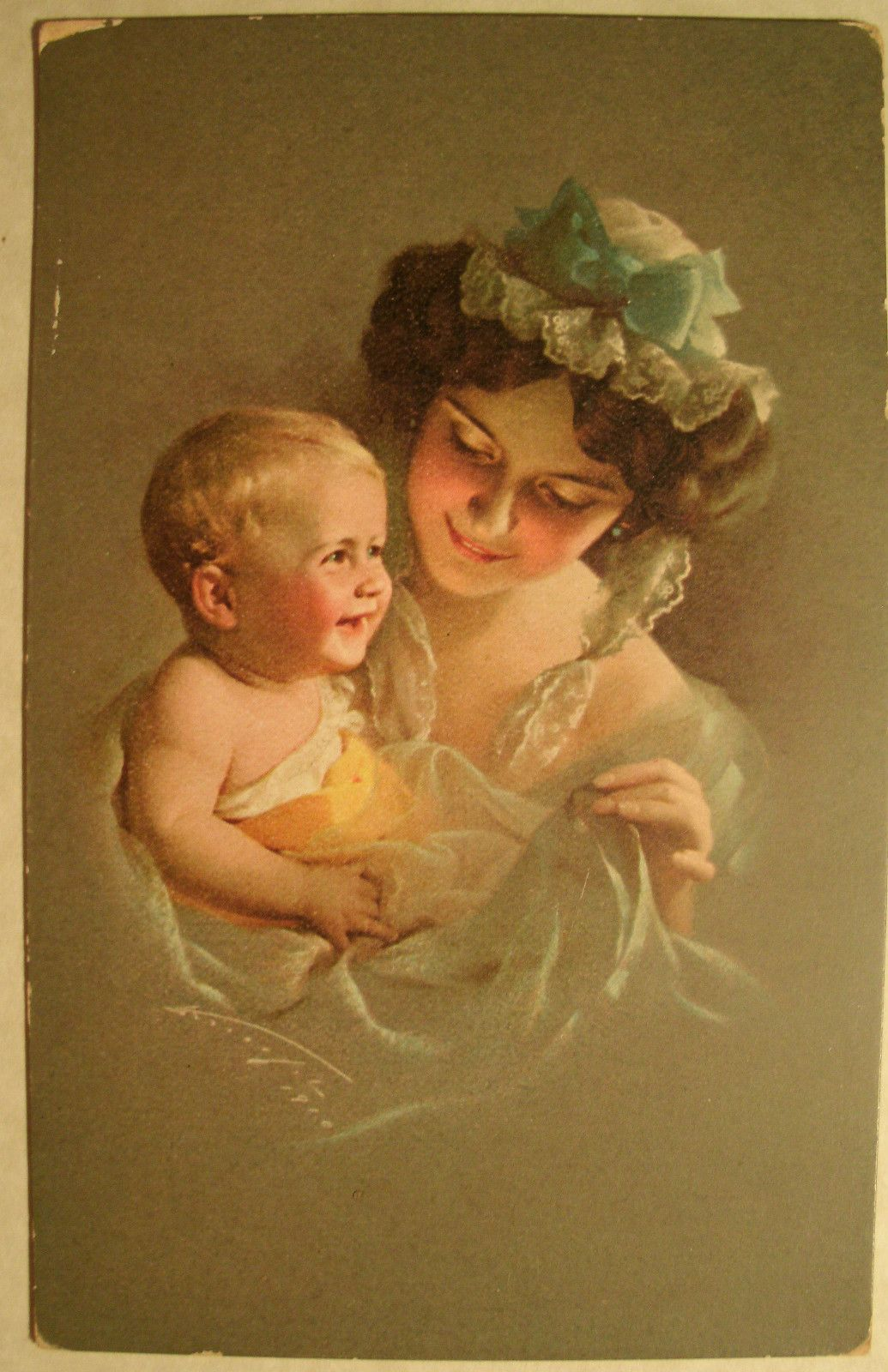 1910 Vintage Mother's Day Postcard. Mother's Day May 12, 2013 (With images) | Vintage illustration