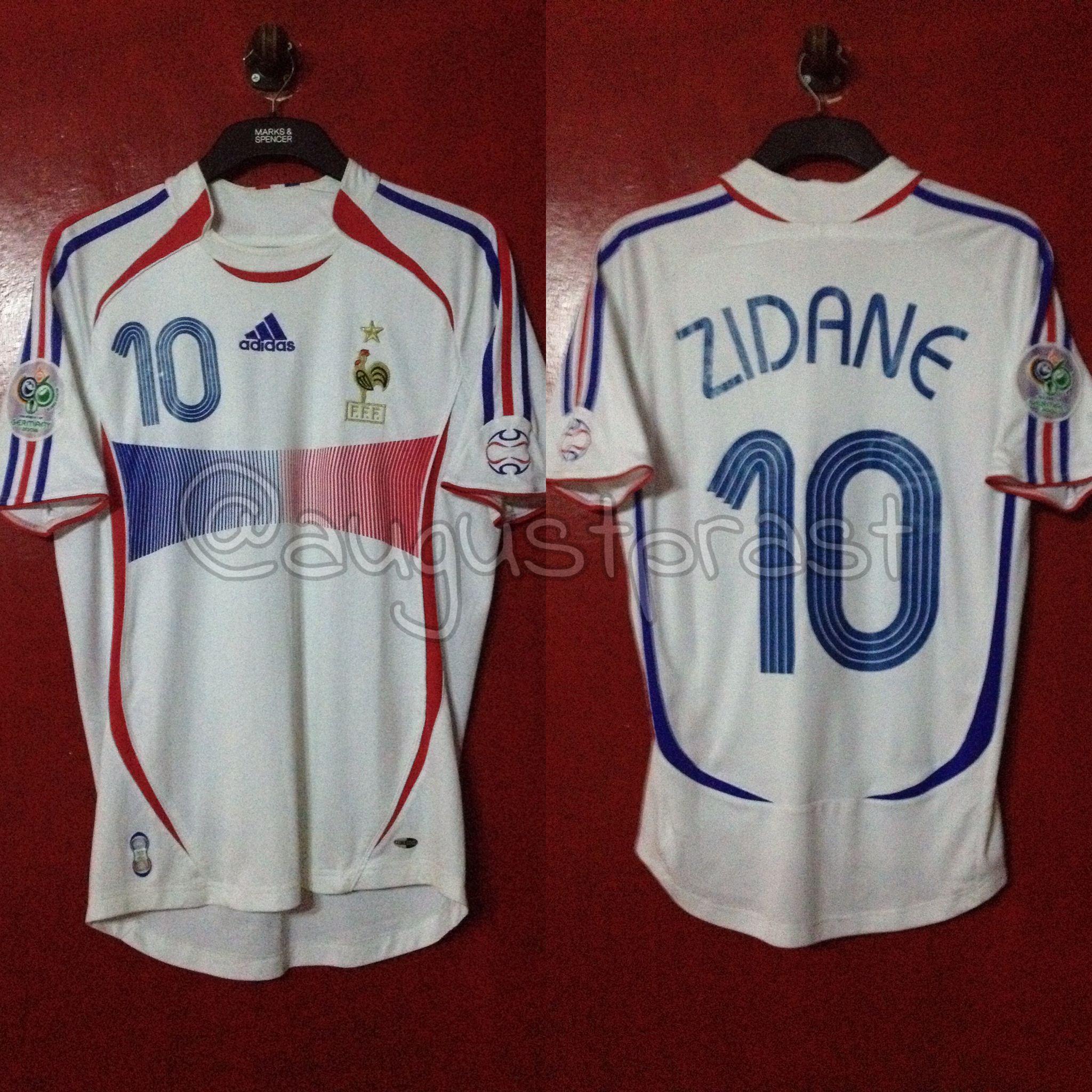 France 2006 2008 Away 10 Zidane France Jersey Sports Jersey Jersey