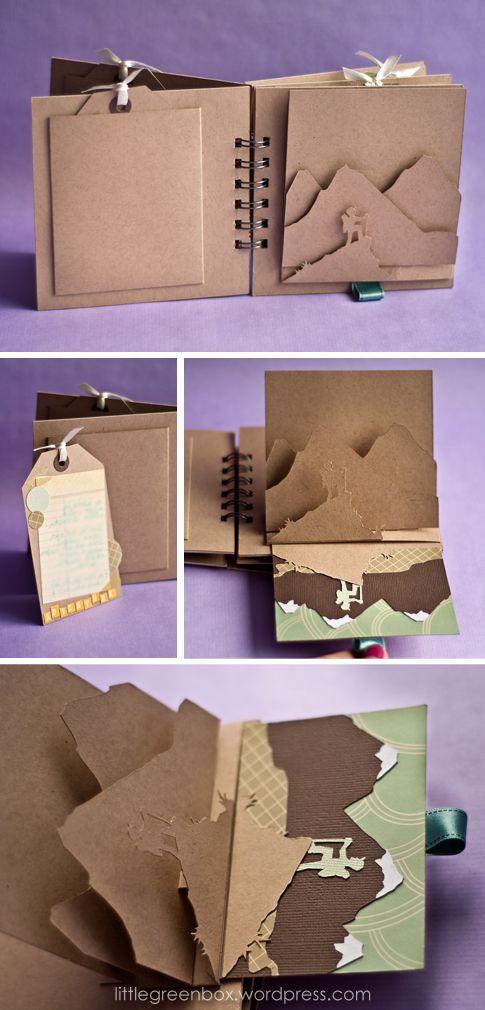 Открытка в виде книжки из бумаги, днем рождения девочке