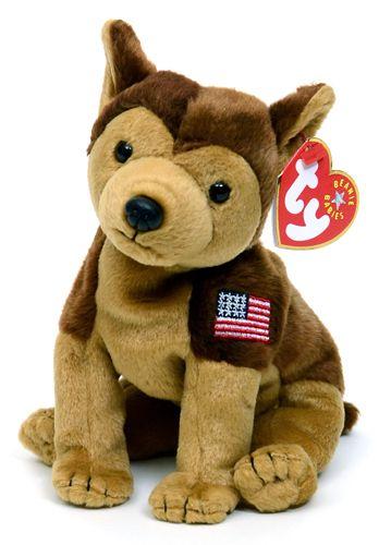 c5bc56b8a48 Courage (flag on left leg) - dog - Ty Beanie Babies ...