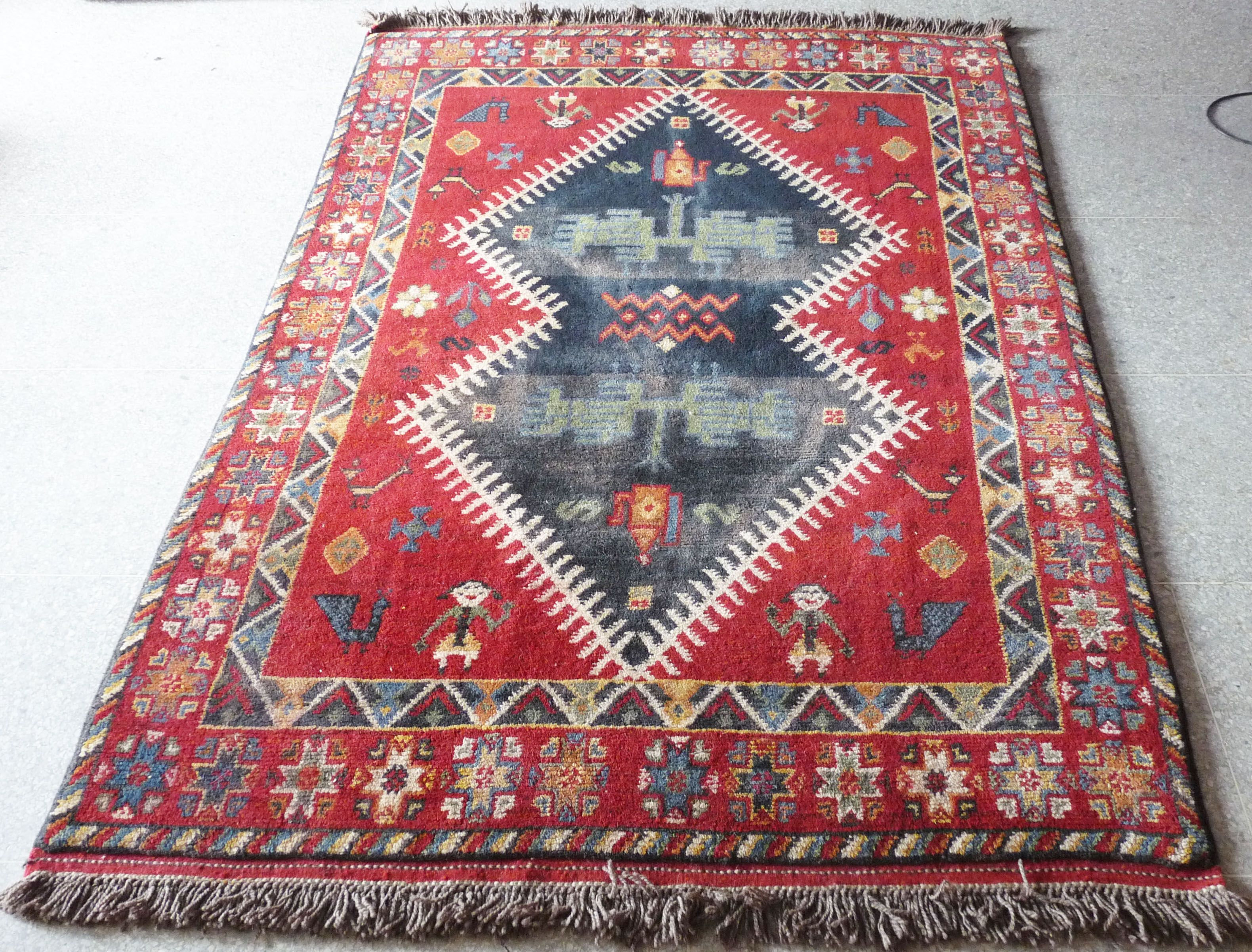 Intricate And Very Cute Motifs On This Glaoui Tribal Rug Handknotted To Perfection Handmade Moroccan Rugs 4