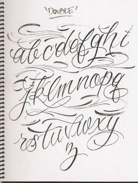 Caligrafa abecedarios Pinterest Calligraphy Fonts and Tattoo