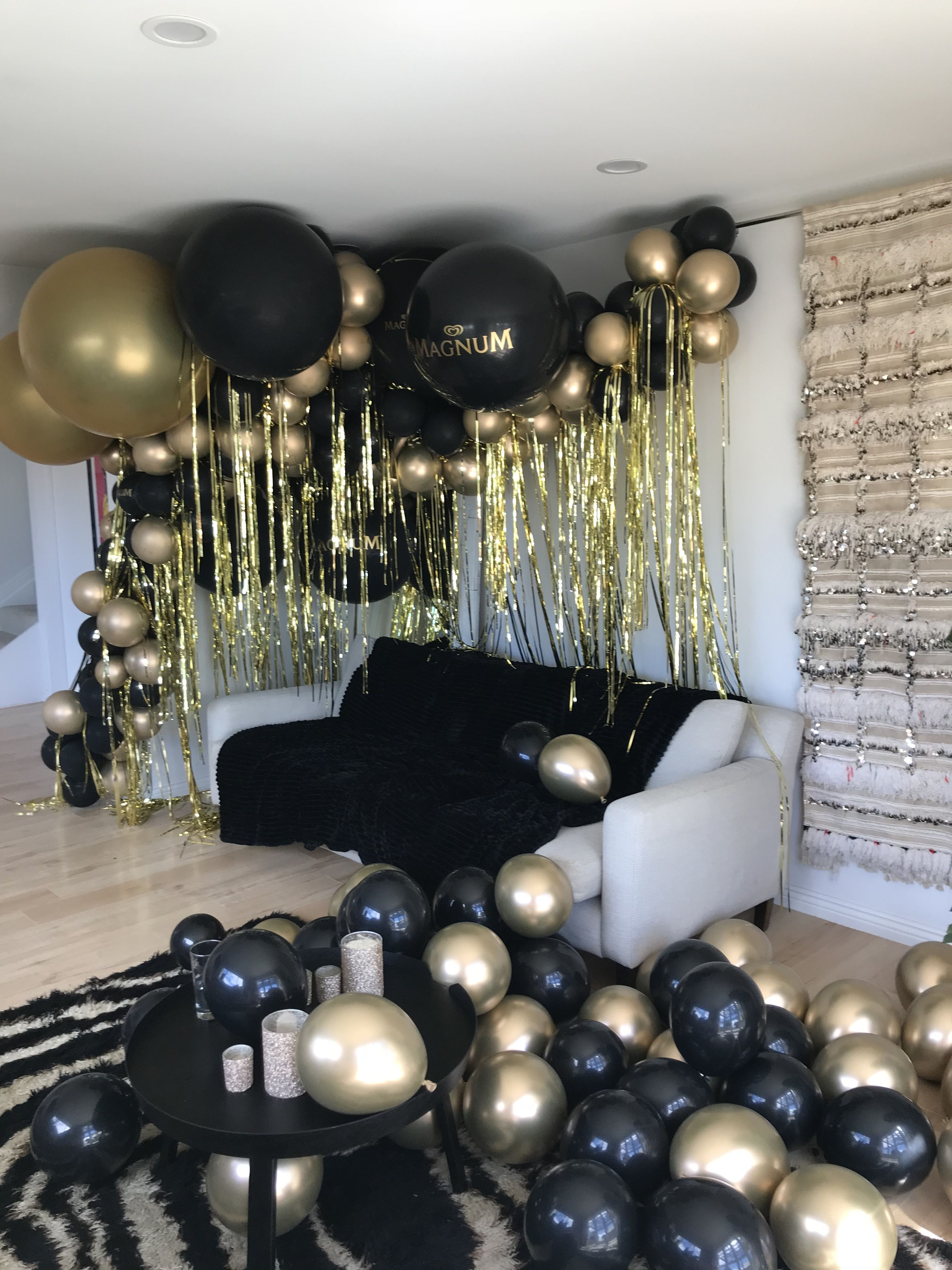 Lunar Balloons X Magnum Birthday Surprise Party 60th Birthday
