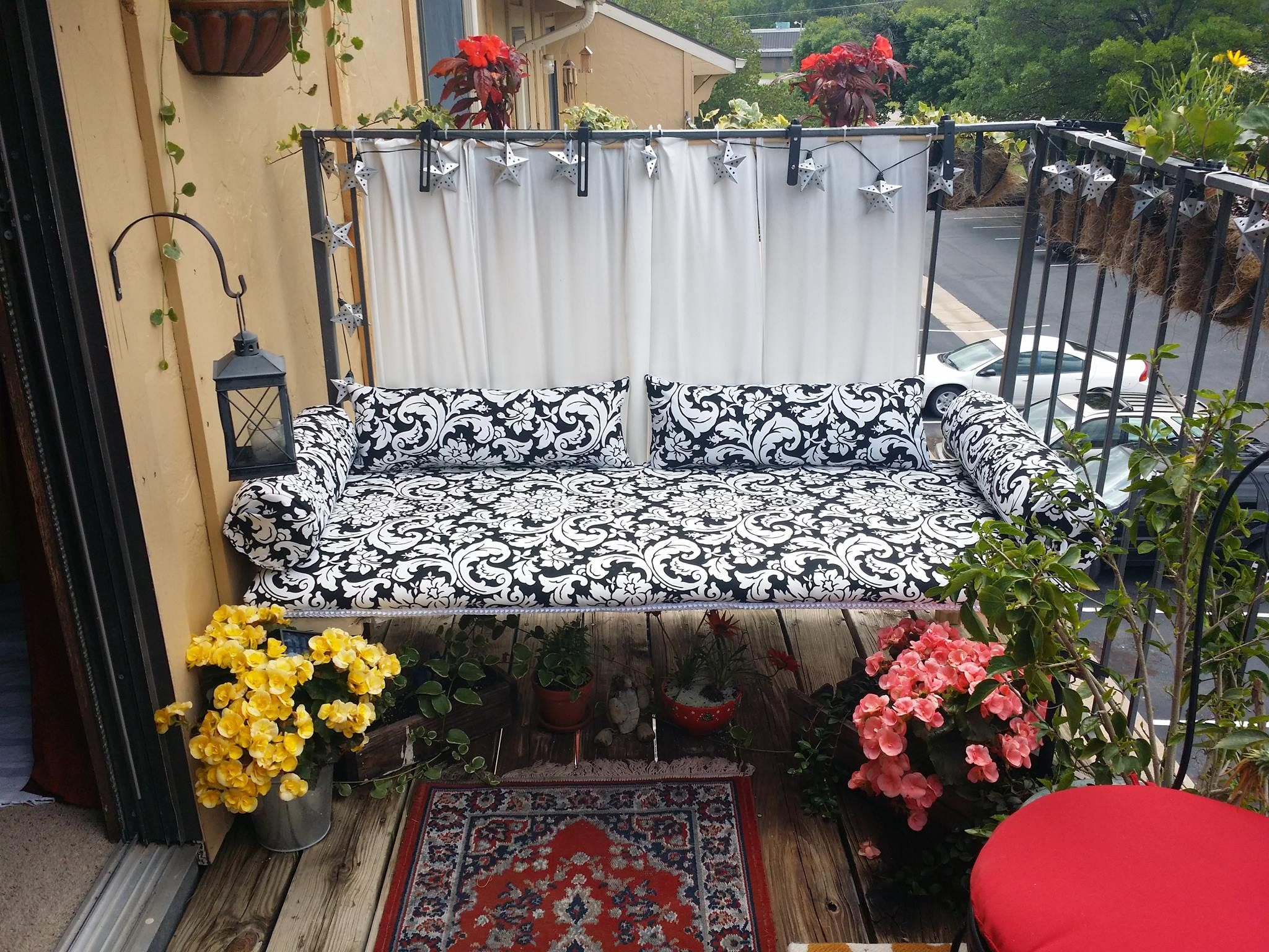 Small balcony ideas love this one by anda arms in kansas for Very small balcony ideas