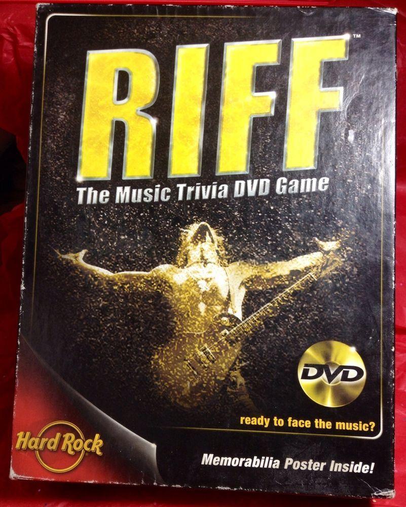 Riff: The Music Trivia DVD Game  (DVD / Video Game, 2005)/Poster Memorabilia  #HerschandCo