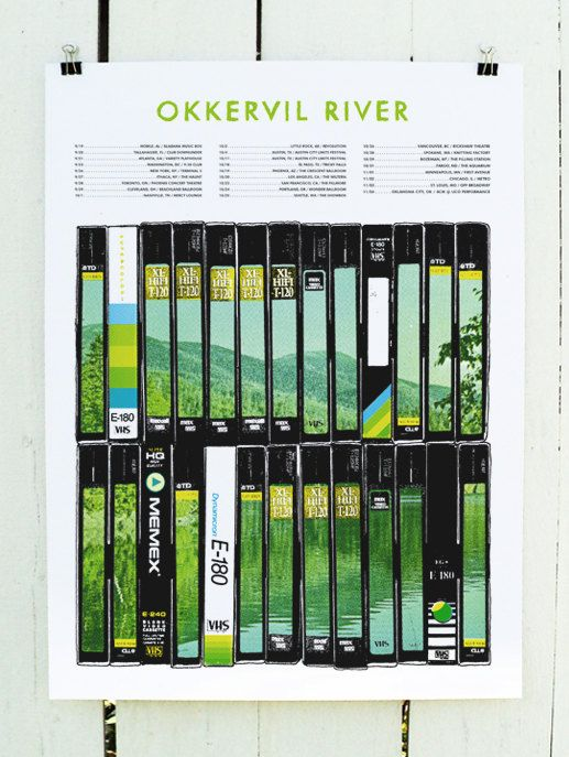 Okkervil River / Tour 2013  Screen gedruckte Poster von scttcmpbll