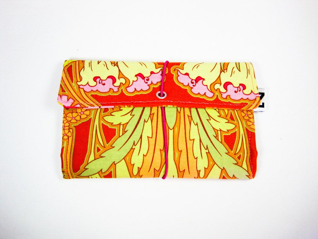 "Tobacco pouch ""Flaming flowers"". $26.87, via Etsy."