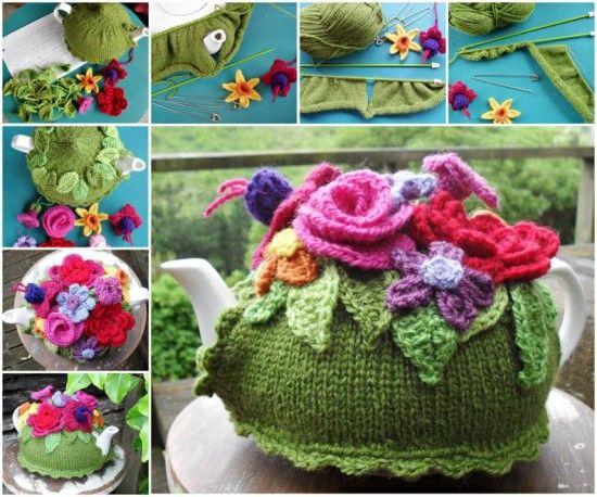 Stunning Spring Explosion Tea Cosy Free Pattern Knittingknitting