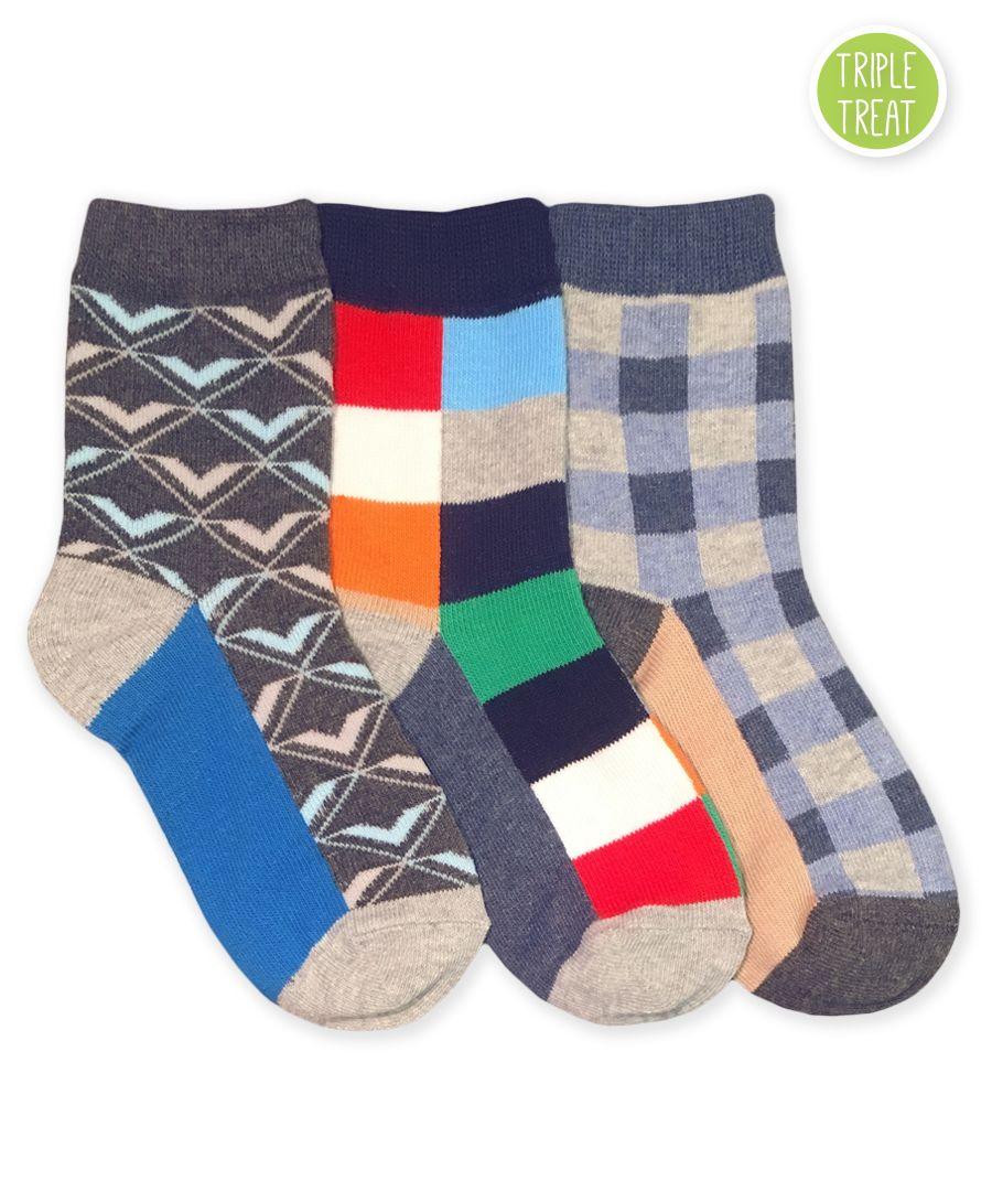 Jefferies Socks Little Girls  Triple Treat Fun Pack of 3