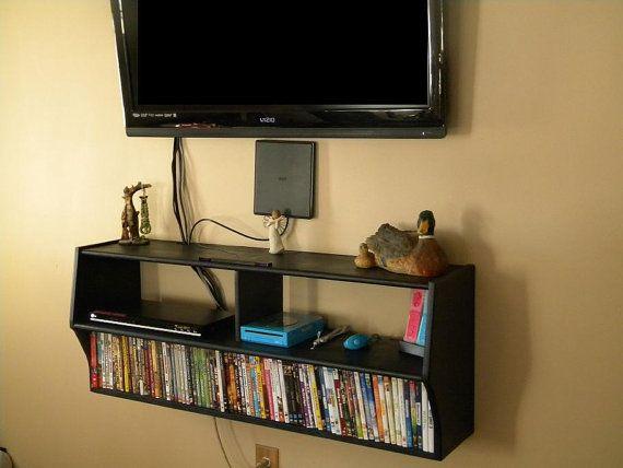 Wall Mounted Under The Tv Shelf By Customwoodconcepts On Etsy 349 99 Mounted Shelves Wall Shelf Brackets Wall Mounted Shelves