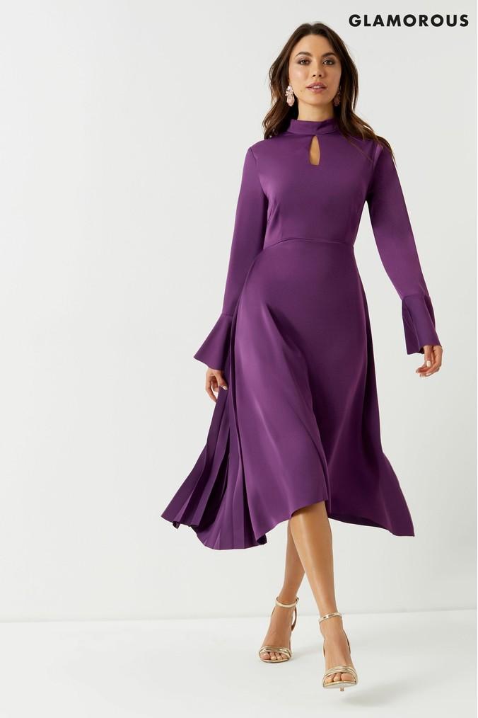 Womens Glamorous Studio Midi Dress Purple Womens Purple Dresses Dresses Purple Midi Dress