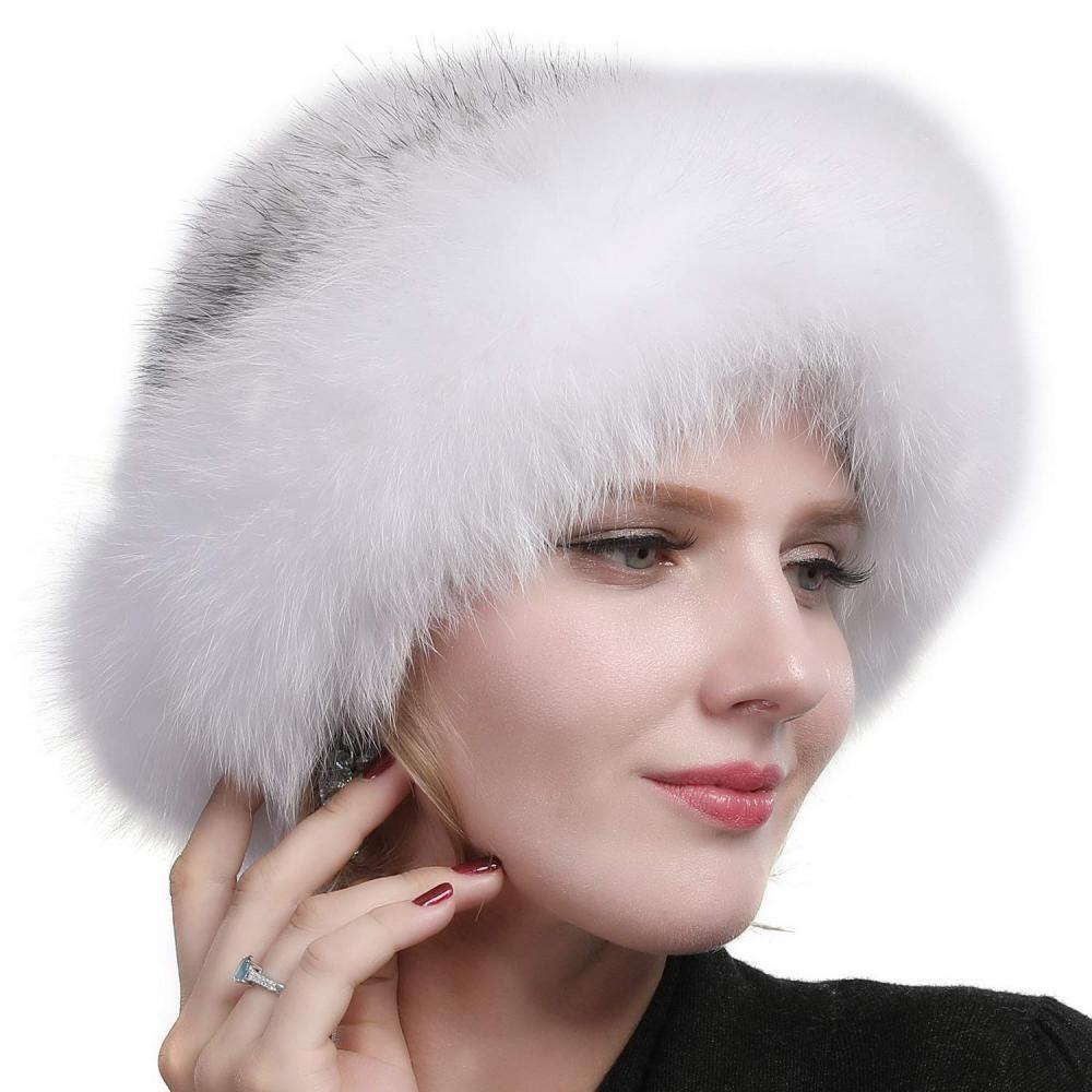 309289e99214 Valpeak Womens Winter Hat Knitted Mink Real Fur Hats Fox Brim #fashion  #clothing #