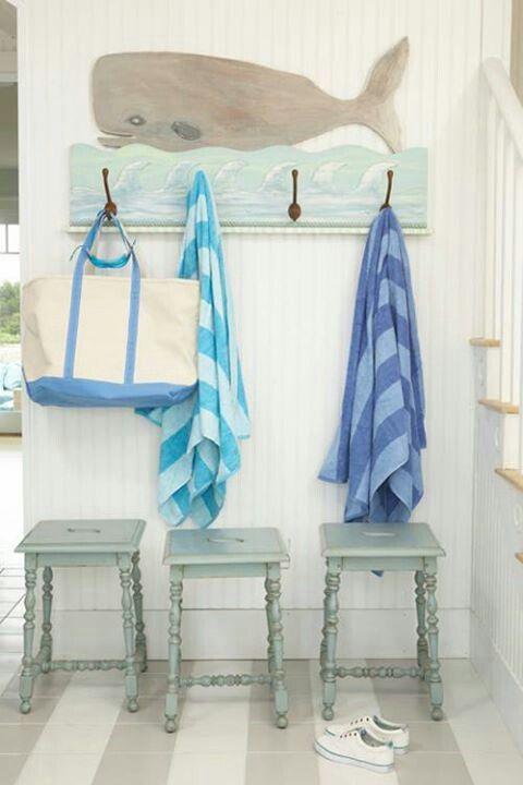 Beachy interior, pretty shades of blue