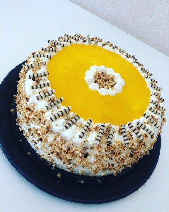 Pfirsich-Maracuja-Giotto-Torte von Regina24 | Chefkoch