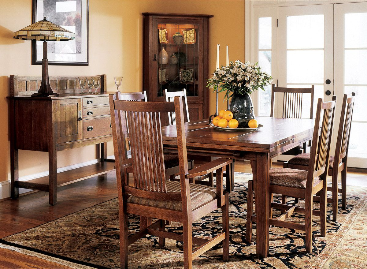 Stickley Draw Top Table Divine Dining Room