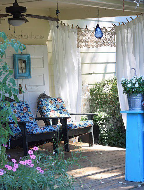 Creative ways to hang outdoor curtains curtain for Unusual ways to hang curtains