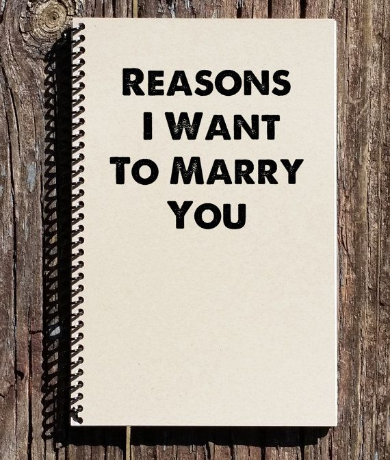 What To Get Fiance For Wedding Gift: Reasons I Want To Marry You, Proposal Gift, Engagement
