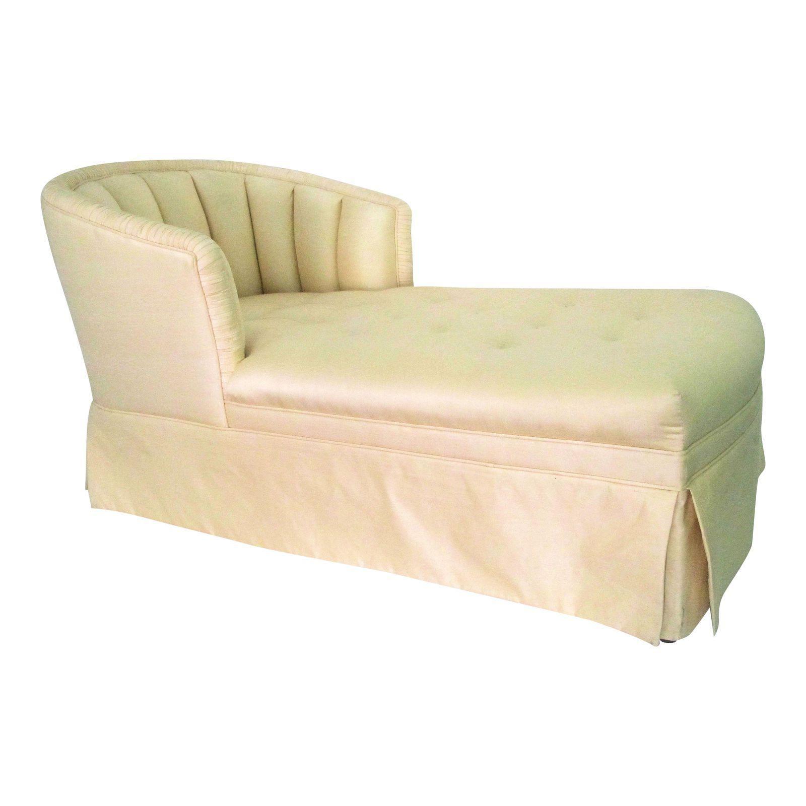 Pleasing Image Of Vintage Silk Chaise Lounge Sofas Settees Creativecarmelina Interior Chair Design Creativecarmelinacom
