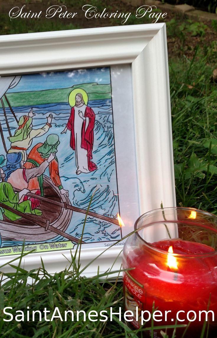 Jesus Walking On Water Coloring Page | Pinterest | Simon peter ...