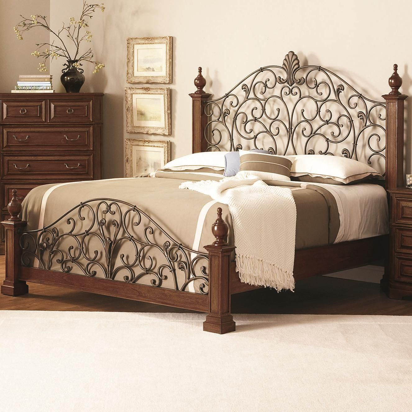 Edgewood King Poster Bed by Coaster Furniture, Home