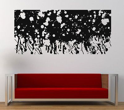 Wall Room Decal Vinyl Sticker Abstract Water Paint Splash Drip Big Large  L270 | My Room | Pinterest | Paint Splash, Room And Walls