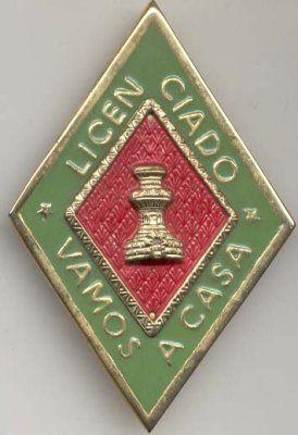 Emblema del personal licenciado que realizaba su Servicio Militar Obligatorio en las unidades del Arma de Ingenieros del Ejército de Tierra.