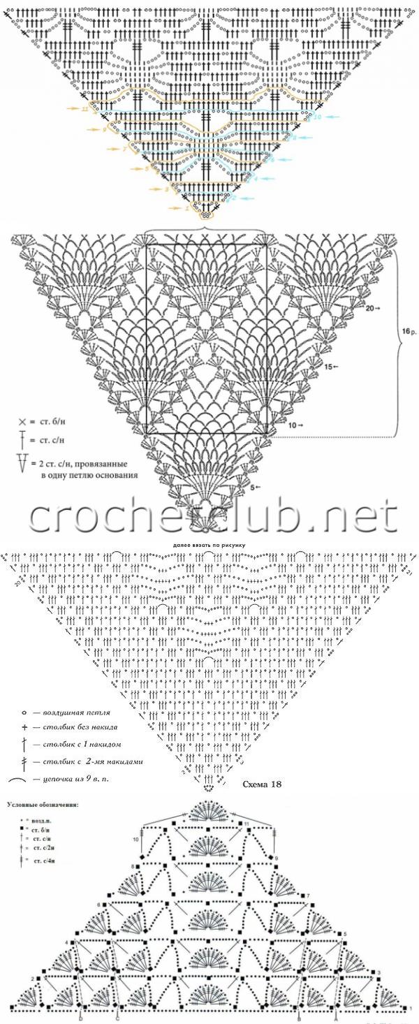 passionforum.ru   knitting lace patterns   Pinterest   Chal ...